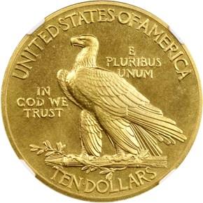 1910 $10 PF reverse