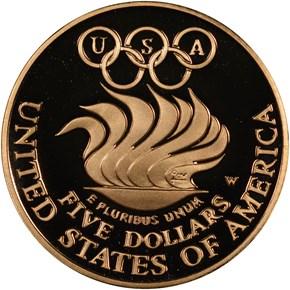 1988 W OLYMPICS $5 PF reverse