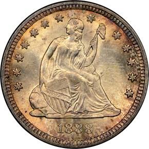 1888 25C MS obverse
