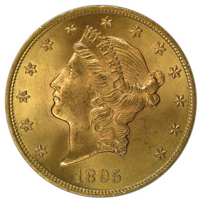 1895 $20 MS obverse