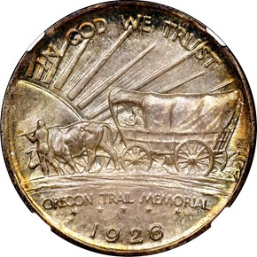 1926 S OREGON TRAIL 50C MS reverse