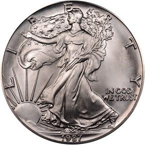 1987 EAGLE S$1 MS obverse