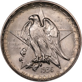 1936 S TEXAS 50C MS obverse