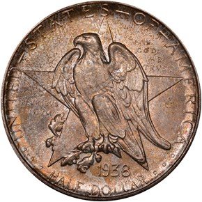 1938 D TEXAS 50C MS obverse
