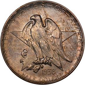 1938 S TEXAS 50C MS obverse