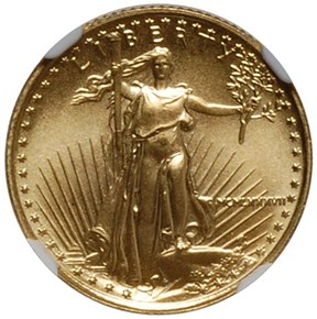 1987 EAGLE G$5 MS obverse