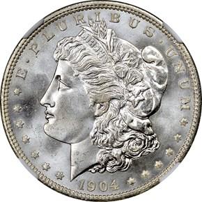 1904 O S$1 MS obverse