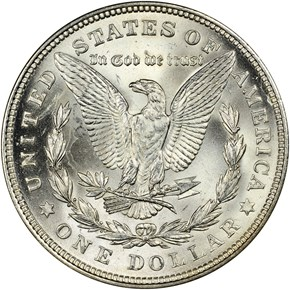 1921 MORGAN S$1 MS reverse