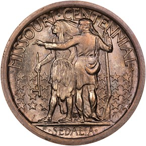 1921 MISSOURI 50C MS reverse