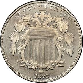 1870 5C PF obverse