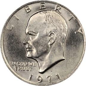 1971 D $1 MS obverse