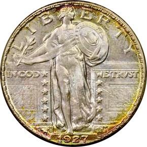 1927 D 25C MS obverse
