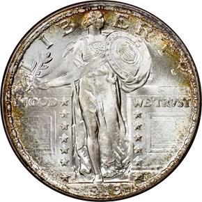 1919 25C MS obverse
