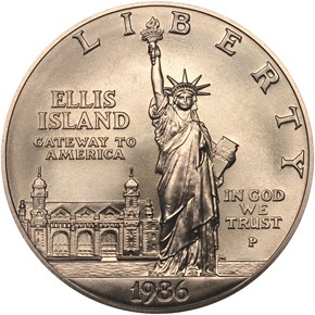 1986 P LIBERTY S$1 MS obverse