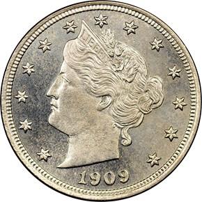 1909 5C MS obverse