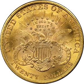 1897 $20 MS reverse