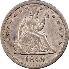 1849 O 25C MS obverse