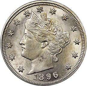 1896 5C MS obverse