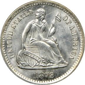 1872 S H10C MS obverse