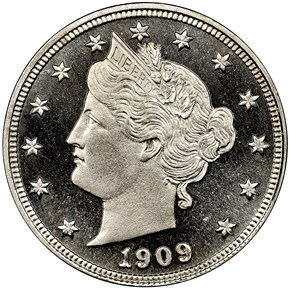 1909 5C PF obverse