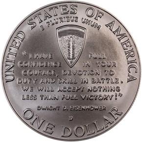 1991-1995 D W.W.II S$1 MS reverse
