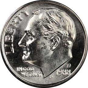 1988 D 10C MS obverse