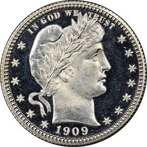 1909 25C PF obverse