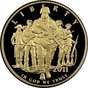 2011 W U.S. ARMY $5 PF obverse