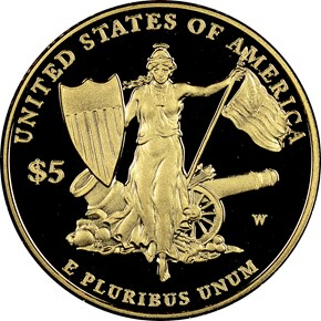 2011 W MEDAL OF HONOR $5 PF reverse