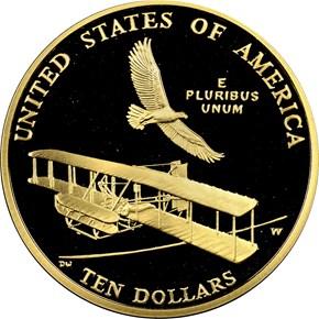 2003 W FIRST FLIGHT $10 PF reverse
