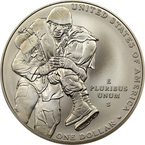 2011 S MEDAL OF HONOR S$1 MS reverse