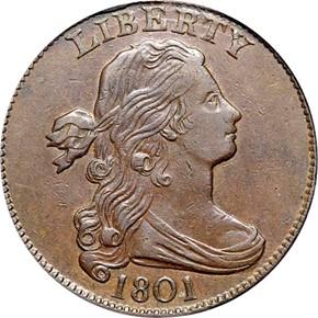 1801 1C MS obverse