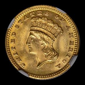 1870 G$1 MS obverse