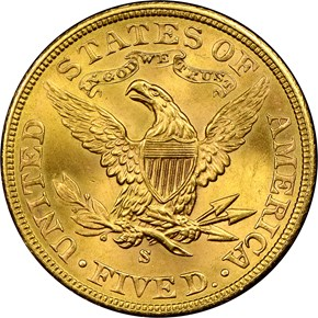 1903 $5 MS reverse