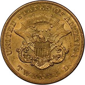 1856 O $20 MS reverse