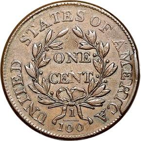 1804 S-266 1C MS reverse