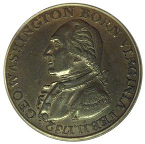 (1792) COPPER WASHINGTON BORN VIRGINIA 1C MS obverse