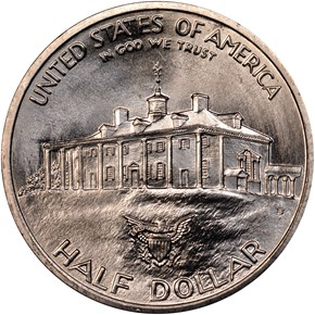 1982 D WASHINGTON 50C MS reverse