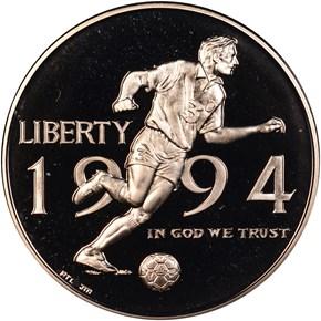 1994 P WORLD CUP 50C PF obverse