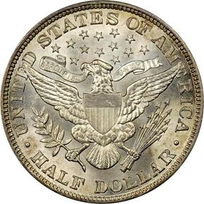 1901 50C MS reverse