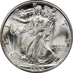 1934 D 50C MS obverse