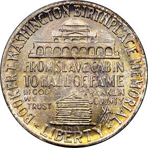1946 BOOKER T. WASHINGTON 50C MS reverse