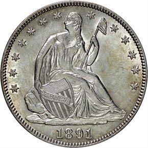 1891 50C MS obverse