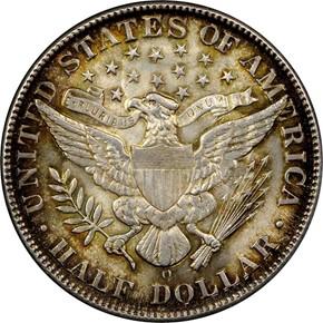 1907 O 50C MS reverse