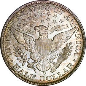 1908 O 50C MS reverse