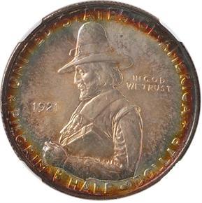 1921 PILGRIM 50C MS obverse