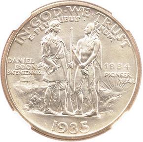 1935/1934 D BOONE 50C MS reverse