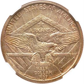 1937 D ARKANSAS 50C MS reverse