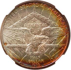 1939 D ARKANSAS 50C MS reverse