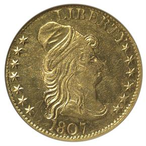 1807 DRAPED $5 MS obverse